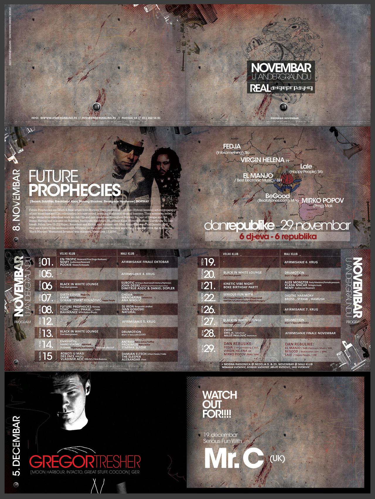 Andergraund Program Novembar by sniperyu