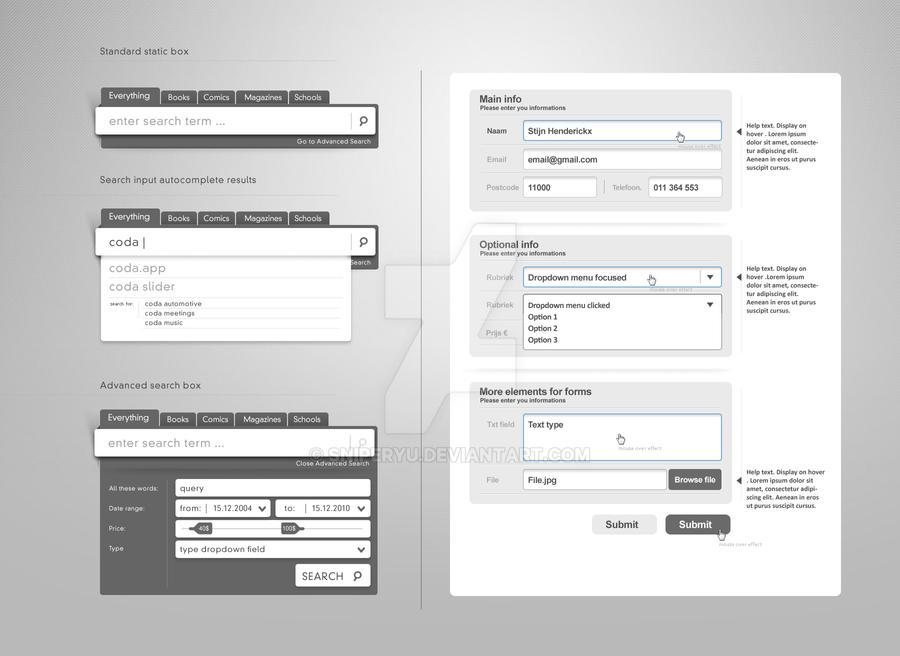 Web Form Elements Vol.2 by sniperyu