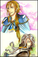 FFVI Charas - Edgar and Setzer by Mahogany-Fay