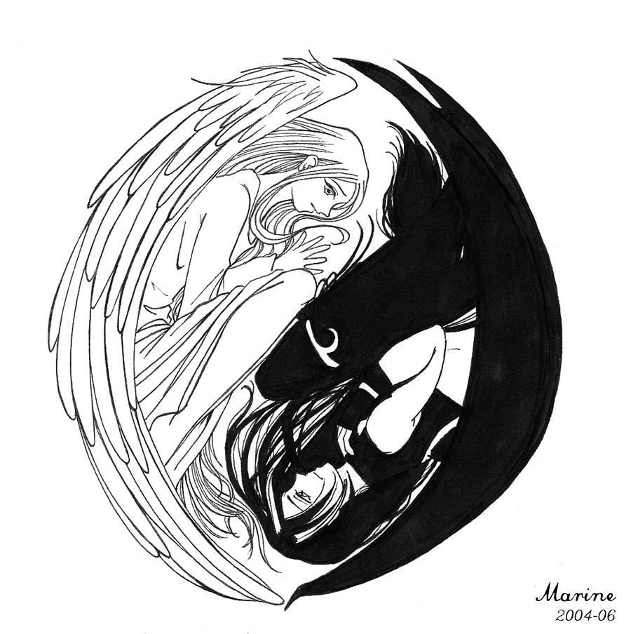 yin yang love by mahogany fay on deviantart. Black Bedroom Furniture Sets. Home Design Ideas