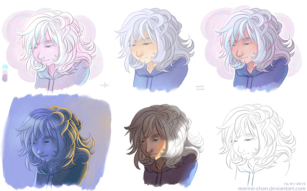 Color tests by Marine-chan