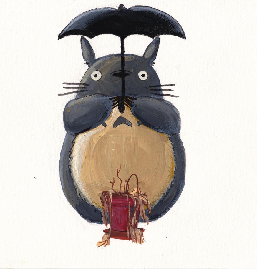 Middle - Help! Make my houseplants grow, Totoro by valerievargas