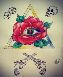 Triangle tattoo design by Arsenid
