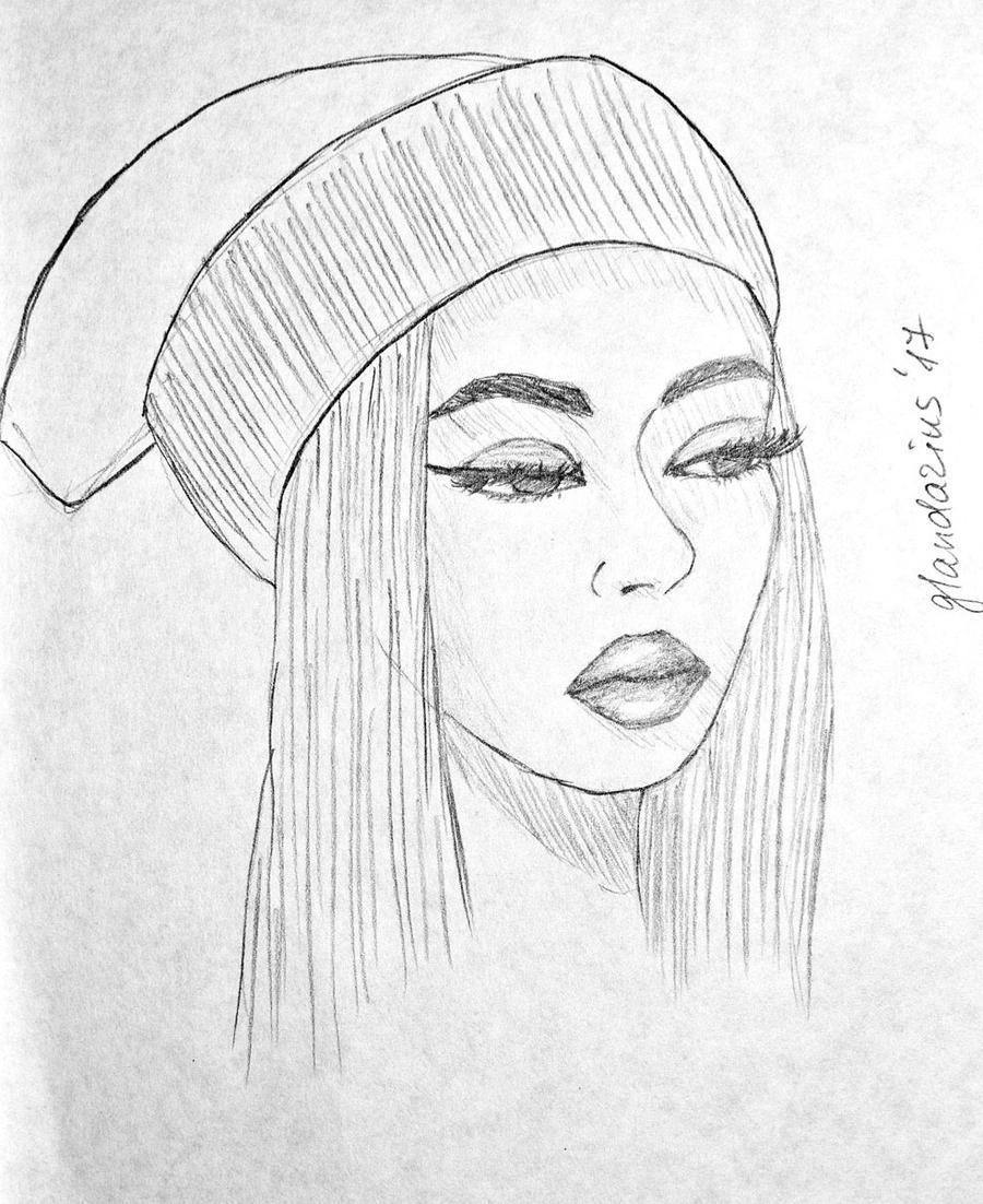 Sketch Girl In Cap By Glandarius-X On DeviantArt