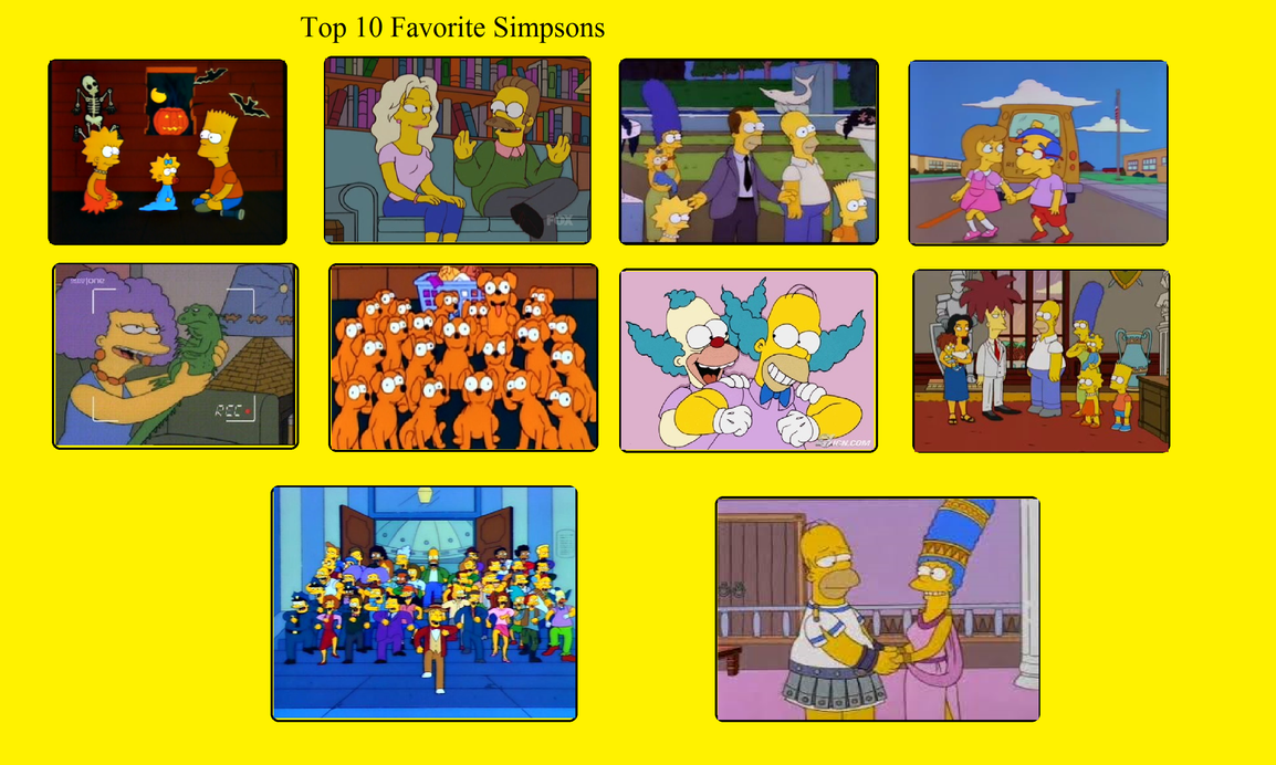Detective88 39 S Top 10 Simpsons Episodes By Detective88 On