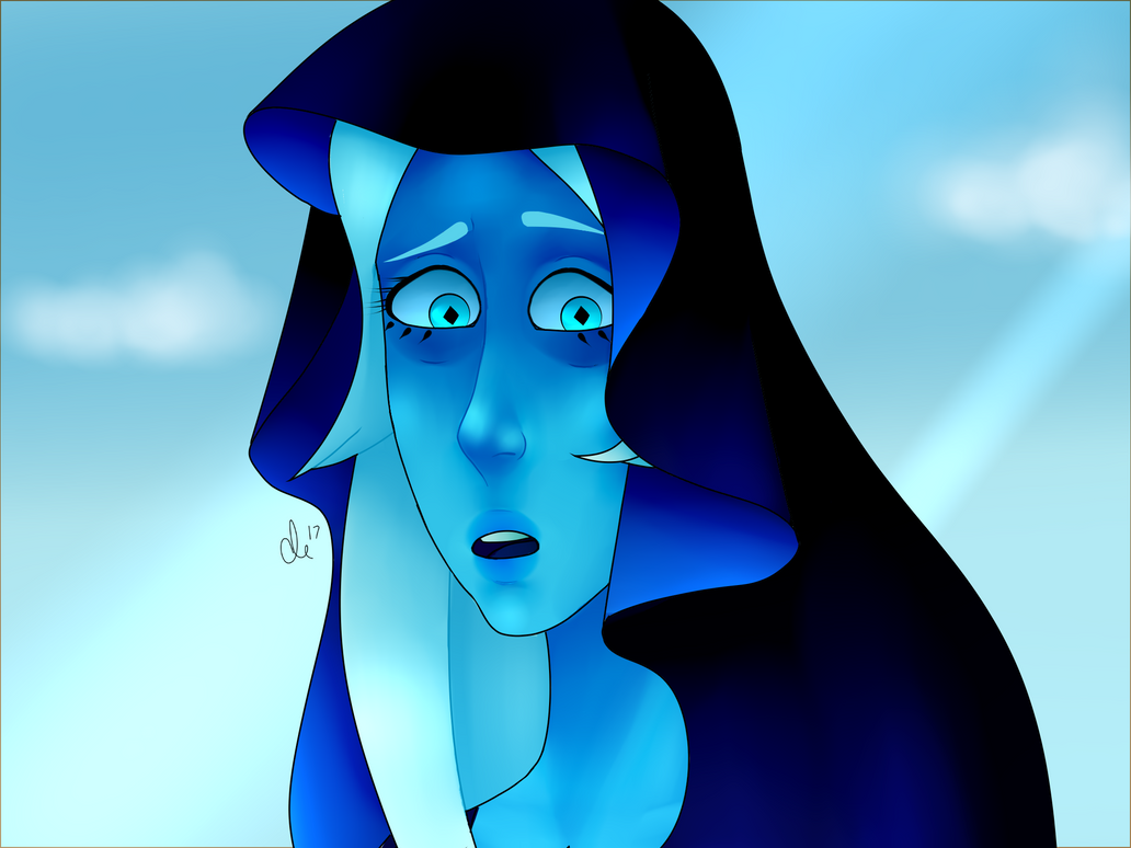 """I'm surprised a human being can understand how I feel..."" Diamond screenshot redraw pt.2 I love Blue Diamond so much"