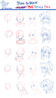 How to draw moe face~