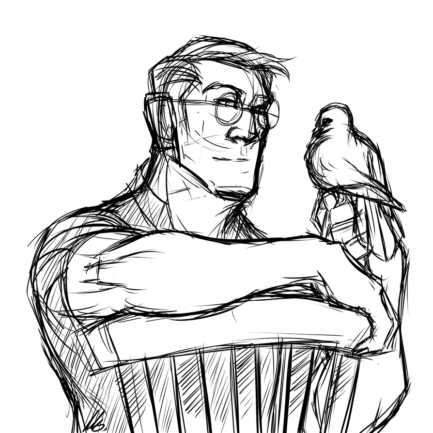 Sketching- Medic and Archimedes by Nara-chann