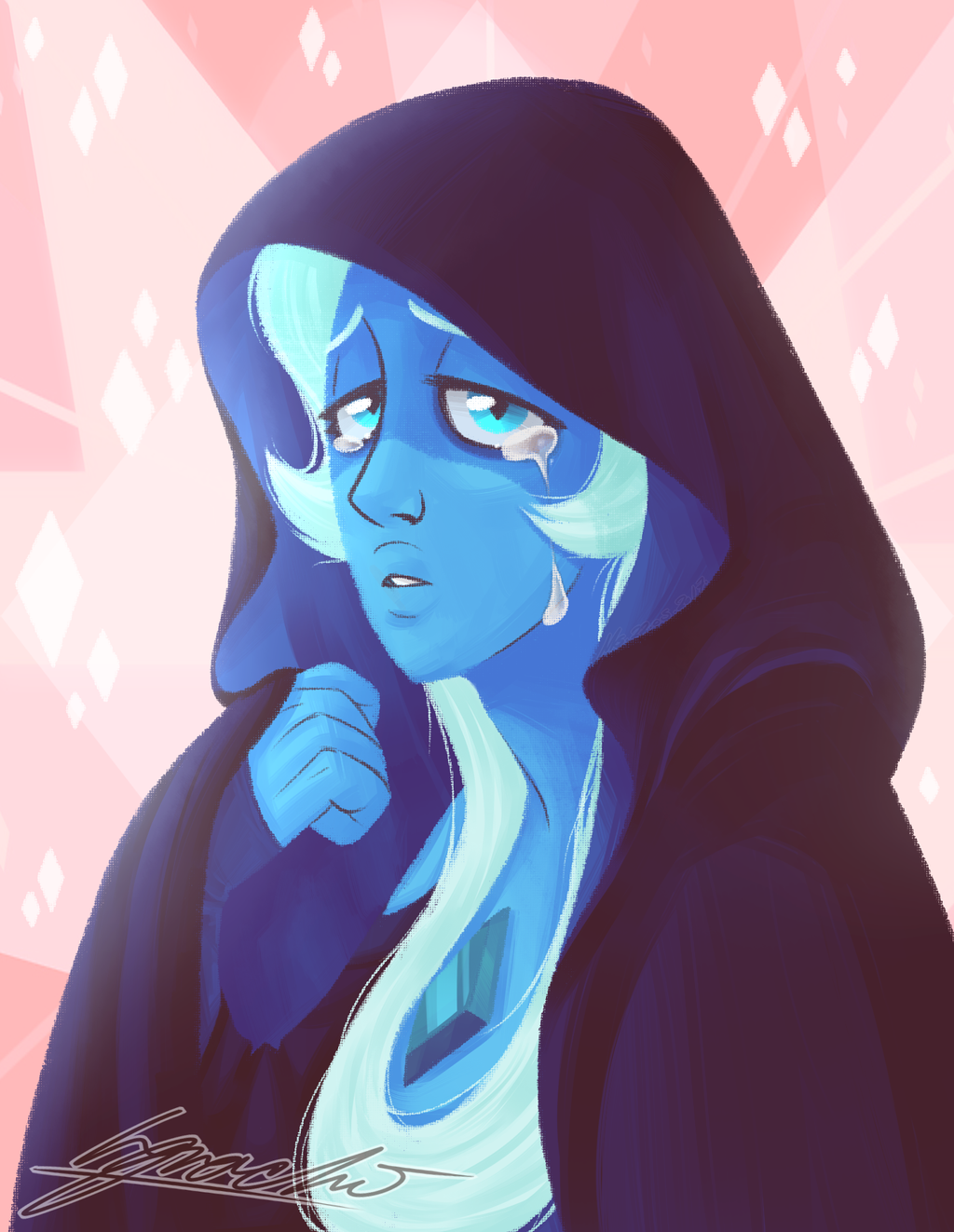 I really like Blue Diamond's design! This is made out of a really old sketch I did a while ago. Thought it was about time to finish it!