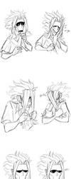 Bnha - Toshinori sketches by Nara-chann