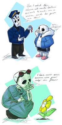 Undertale And Grim Fandango crossover
