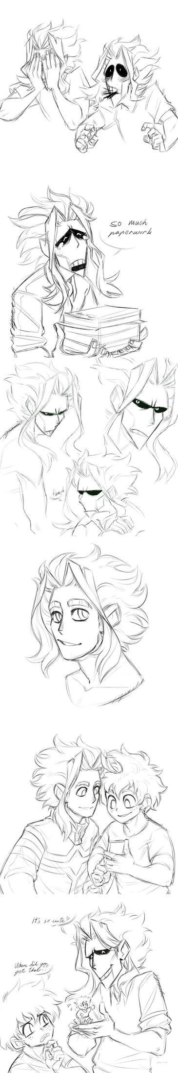 Toshinori Skethces Dump by Nara-chann