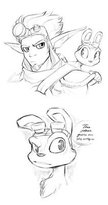Jak And Daxter Sketches