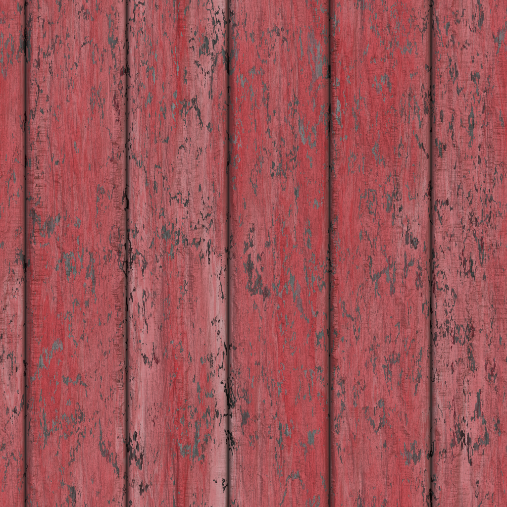 red painted wood by Maiamimo