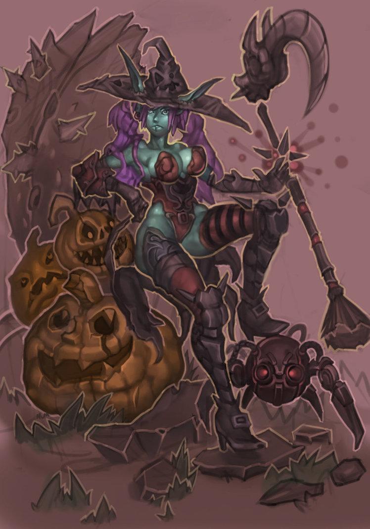 Halloween Vixen by numaire