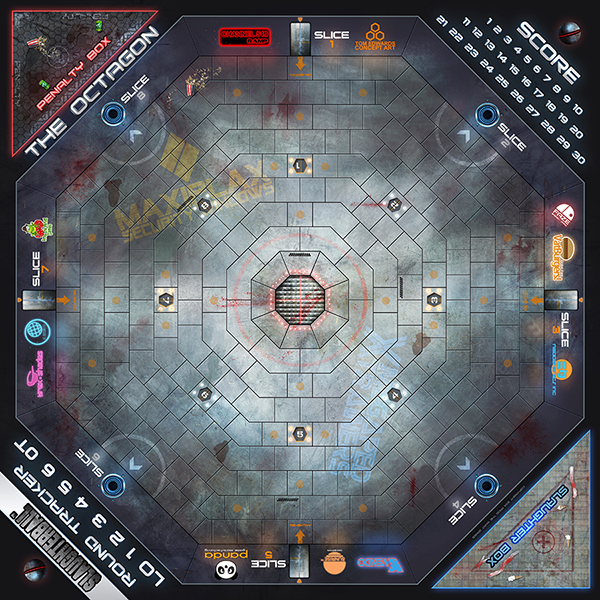 Slaughterball game board - Octagon by FrogtheWhatGames on ...