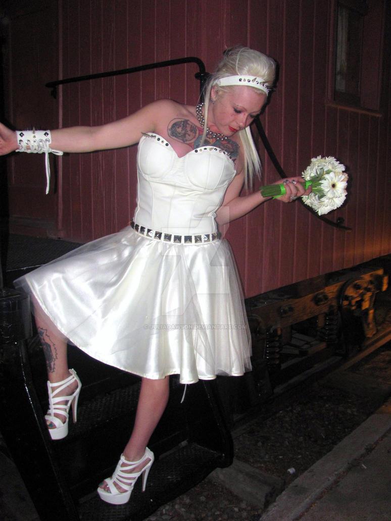 Ivory Leather Wedding Dress by JuliaDawson on DeviantArt