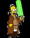 Jedi Master Homer Simpson