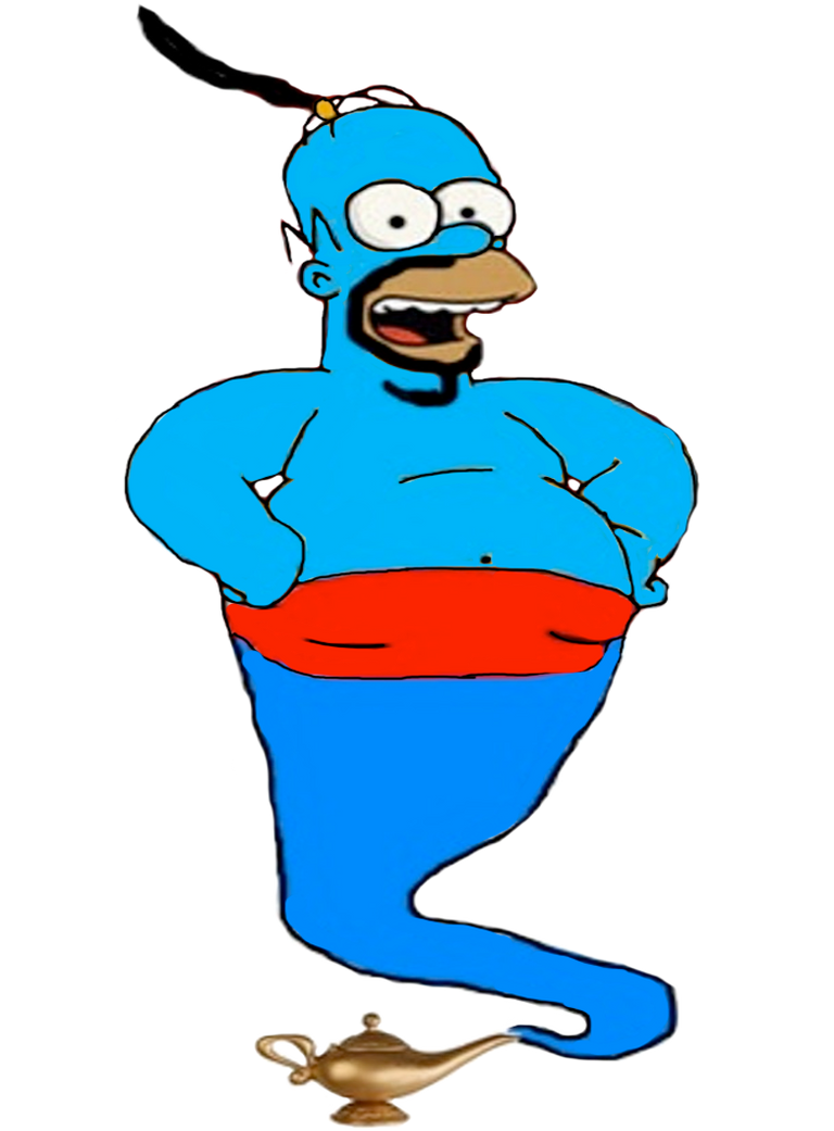 Homer Simpson as the Genie by darthraner83