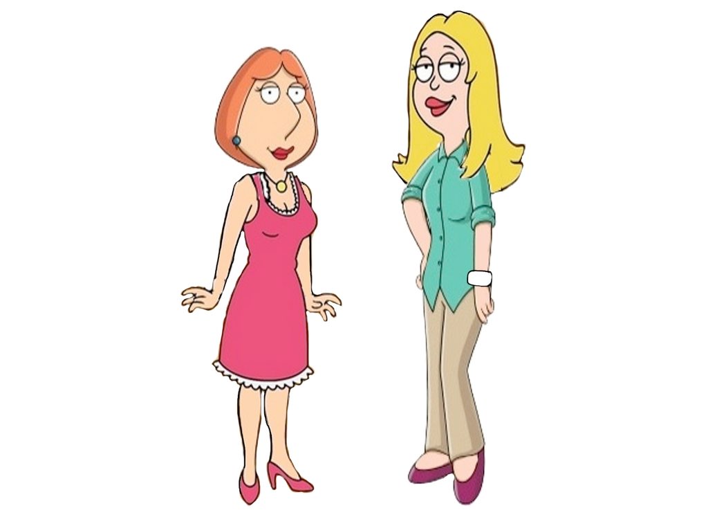 Lois Griffin And Francine Switch Outfits by darthraner83