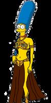 Marge Simpson in Leia's Metal Bikini