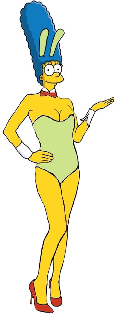 Marge Simpson as a Bunny Girl by darthraner83