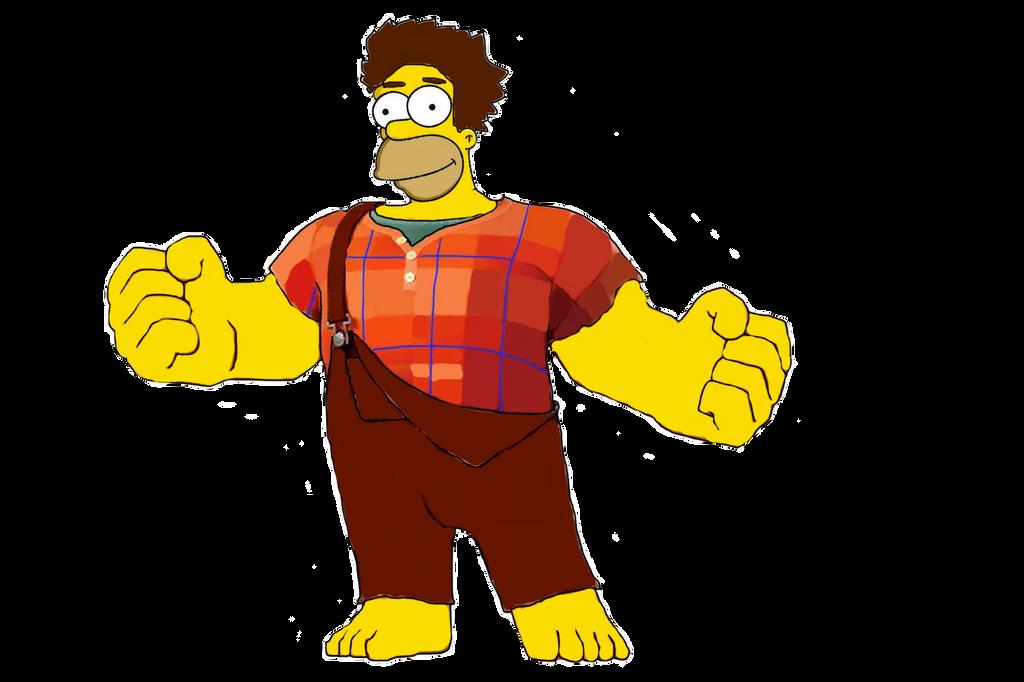 Wreck-It Homer by darthraner83