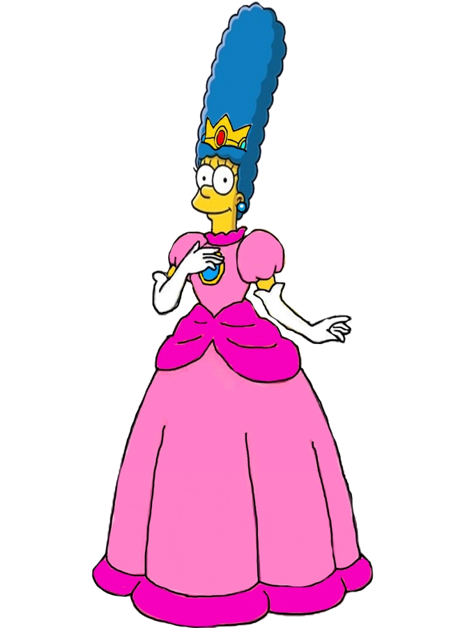 Marge Simpson as Princess Peach by darthraner83