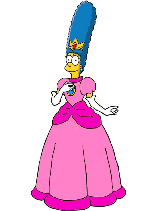 Marge Simpson as Princess Peach by darthraner83