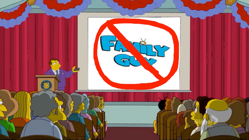 No Family Guy Characters Allowed In Springfield by darthraner83