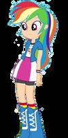 Rainbow Dash as a Human