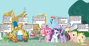The Simpsons in Equestria