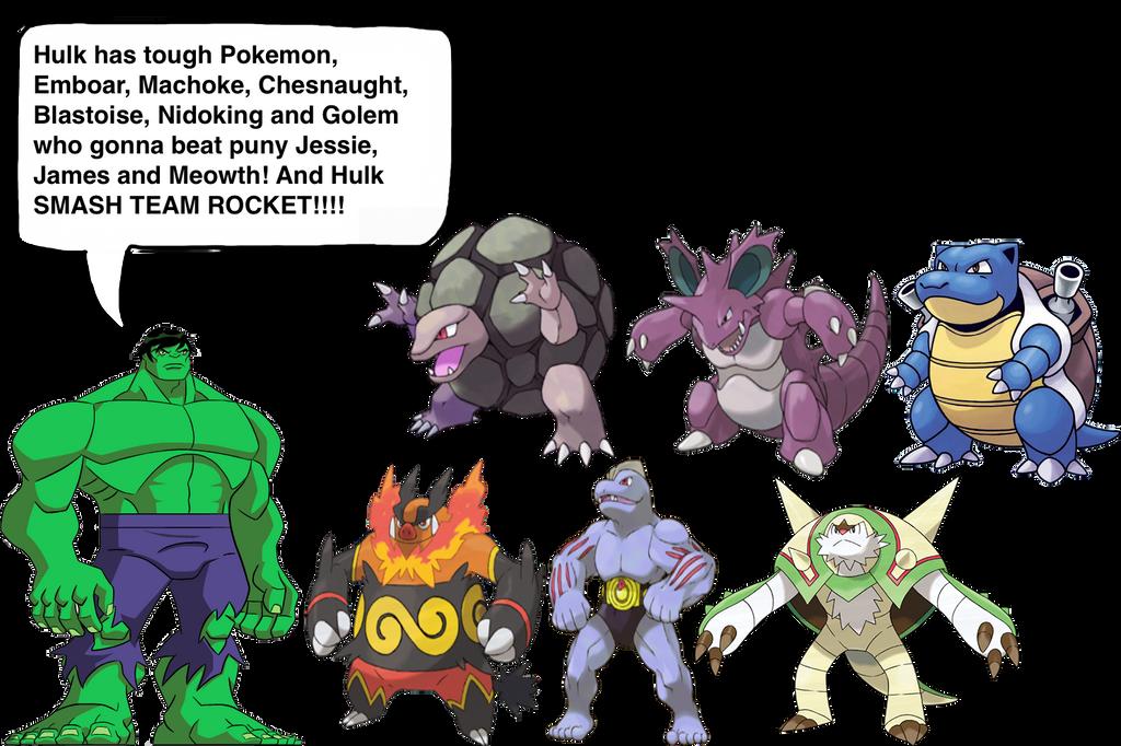 Hulk'-s Pokemon team by darthraner83 on DeviantArt