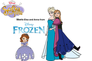 Sofia meets Elsa and Anna by OptimusBroderick83