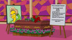 Edna Krabappel Flanders' funeral