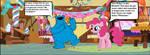 Cookie Monster meets Pinkie Pie by OptimusBroderick83