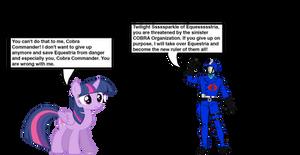 Twilight Sparkle vs. Cobra Commander