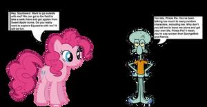 Squidward meets Pinkie Pie