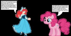 Pinkie Pie meets Princess Ariel