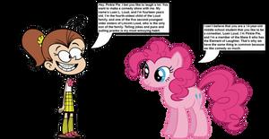 Luan Loud meets Pinkie Pie