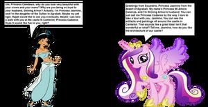 Princess Cadance meets Princess Jasmine