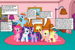 The Mane Six in the Simpsons' house