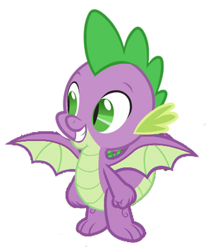 Spike the Dragon (Now with Wings) vector