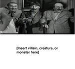 The Three Stooges scared of... [Blank]