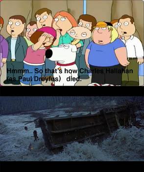 Brian reacting Paul Dreyfus' death