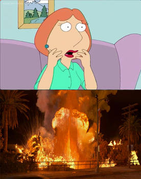Lois shocked at the Volcano erupting at the LATP