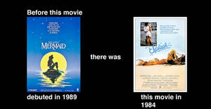 Two mermaid movies in the 80s