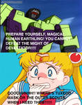 Sailor Moon scared of Devastator