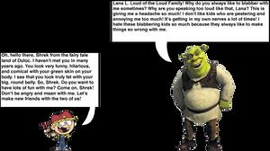 Lana Loud meets Shrek