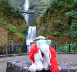 Ms Ella at Multnomah Falls OR